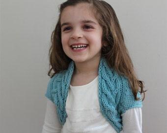 KNITTING PATTERN- child Shrug PDF knitting pattern