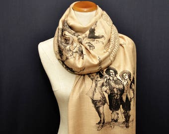 The Three Musketeers Shawl Scarf Wrap