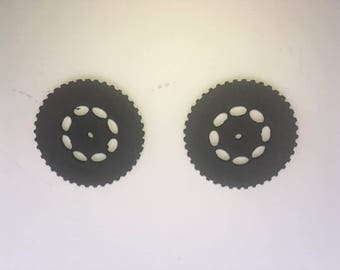 3D foam truck or car wheels to add to scrapbooking projects