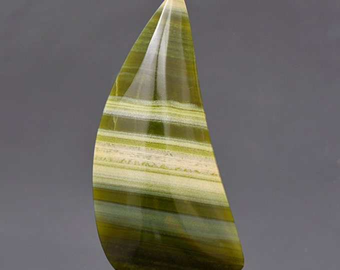 Lovely Green Banded Ricolite Cabochon from New Mexico 38.18 cts.