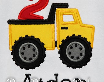 Boy's Dump Truck Birthday Shirt, Under Construction Birthday Shirt, Dump Everything Birthday shirt, Any Age, Any Colors