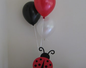 Ladybug Birthday Party Baby Shower Centerpiece Balloon Holders Decorations