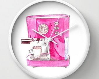 PINK ESPRESSO CLOCK