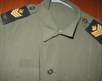 mwg apparel corp vintage  army cadet coat combat lightweight sep  1990