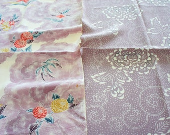 Vintage Japanese Silk Kimono Fabric | Patchwork Lot 142
