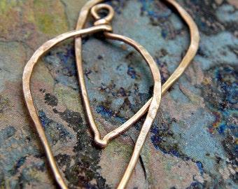 Copper petaldrops, natural or antiqued, handmade findings, PurpleLilyDesigns