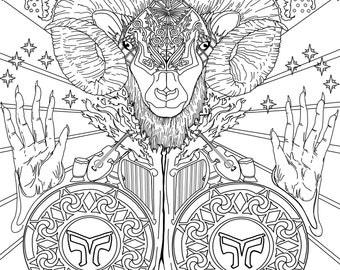 Aries coloring page