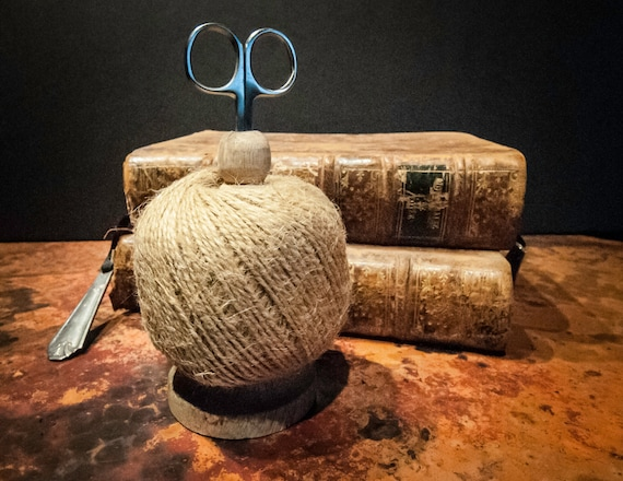 Spool of Natural Jute Twine with Scissors