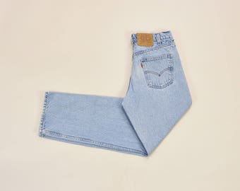 Vintager Levis Jeans, High Waisted Levis 550 Jeans, 90s Mom Jeans, Dad Jeans, Medium Wash Jeans, Relaxed Fit Jeans, Classic 90s Levis W 32