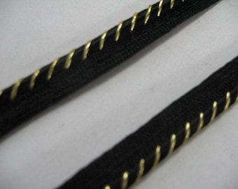 Black and Gold  Pillow Trim Piping Cord Gimp