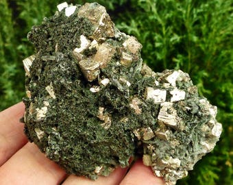 Amazing Pyrite with Chlorite, Crystal, Mineral, Natural Crystal