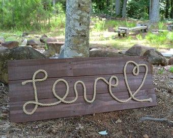 Love Pallet Wood Sign