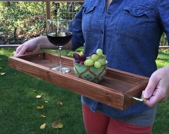 Wood Tray, Serving Tray, Tray, Reclaimed Wood, WoodenTray, Ottoman Tray