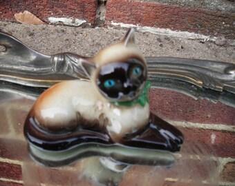 vintage cat figurine Siamese goebel w Germany
