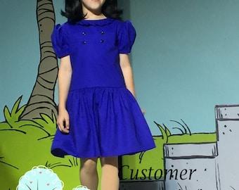 Lucy - inspired Dress,   Girls Dress -  Birthday Party - School Play - Linus - Charlie - Sally - Peanuts --