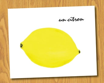 "Lemon Print (8x10) - ""Un Citron"""