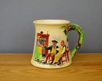 1930s Souvenir Mug Tankard Auld Lang Syne Song Crown Devon S Fieldings England Art Deco