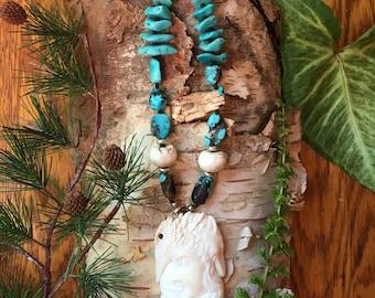Raven Totem Goddess Neckace