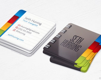 Mini Notebook Square Cards - Realistic - Business Cards - Design and Printing - 250, 500, 1000, 2500 | FREE Shipping |