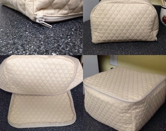 4 Slice Toaster Covers with Zippers Multiple Colors Available Quilted Fabric Small Appliance Covers Made To Order