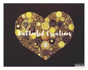 Heart of Gold Button Art Picture