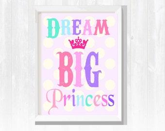 Nursery Art - Girl's Wall Art - Princess Wall Decor- Play room wall art-Kids Room Wall Decor- Baby Girl Nursery Decor
