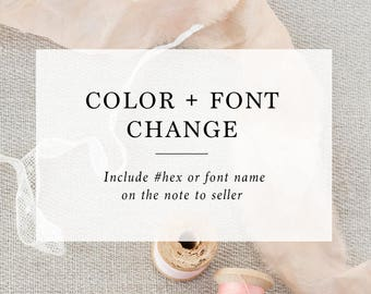 Add on : Custom Color / Font / Additional wording