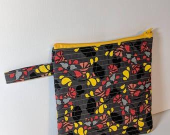 Quilted Modern Zipper Pouch
