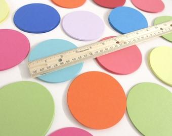 "3.25"" Cardstock Circles- 50, scrapbooking, favor tags, cupcake toppers, garland"