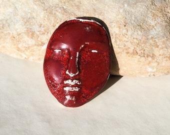 handmade ceramic cab, skin face, steampunk