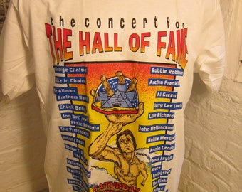 Size XL (48) ** 1995 Hall of Fame Concert Shirt (Double Sided) (Deadstock Unworn) (The Kinks, Prince, Alice in Chains, Johnny Cash)