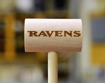 Engraved Baltimore Ravens crab mallet