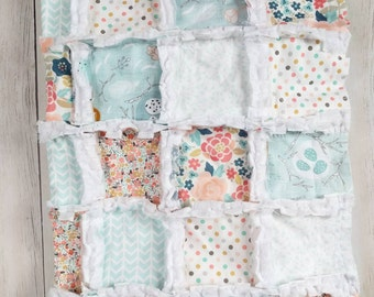 Floral Minky Rag Quilt