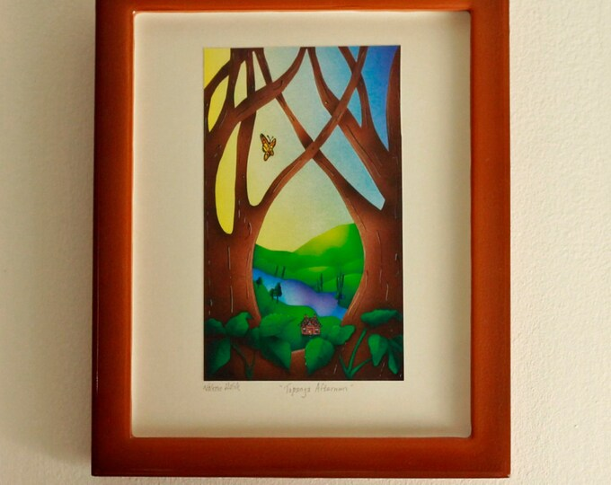TOPANGA AFTERNOON Framed Print | Nature Print | Rustic Wall Art | Cabin Print | Valerie Walsh Art Work | 8x10