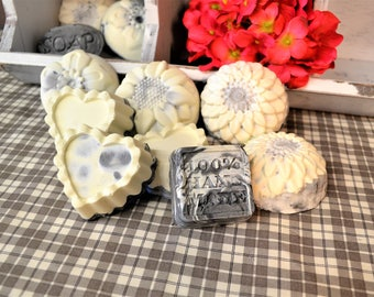 Handmade Soap, Cold Process Soap, Activated Charcoal Soap, Facial Soap, Bentonite Clay Soap, Tea Tree Oil, Gift For Her, Natural Soap