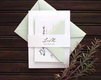 Calligraphy Wedding Invitation | Modern Calligraphy Wedding Invite, Modern Wedding Invitation, Calligraphy Invitation, Custom Calligraphy