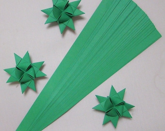 Single Color Green, 5 sizes , 22 inch long , (50 strips)
