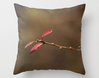 Autumn Picture Pillow Cover, Large Cushion Case, Rustic Cottage Fall Decor, Interior Designer, Handmade in Canada, Nature Themed Photography