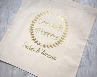 Tote bag personalized bridesmaid
