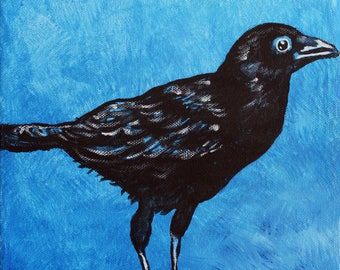 Acrylic Crow Print