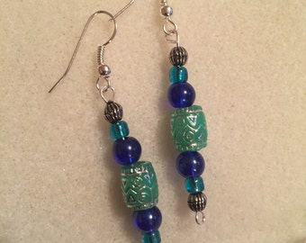 Dark Sea Tiki Earrings