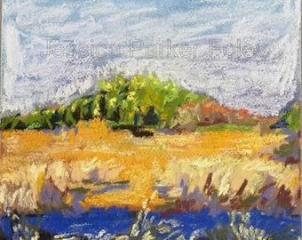 Pastel Giclée Print - Sunny Cape Cod Marsh