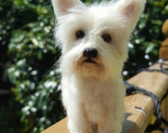 Handmade needle felted West Highland white terrier made to order