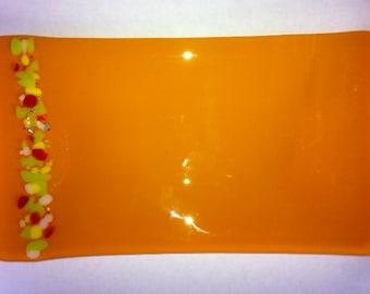 Neon Orange Sushi Dish
