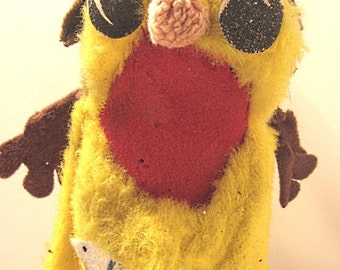 """Little """"T"""" advertising cloth puppet for ice cream."""