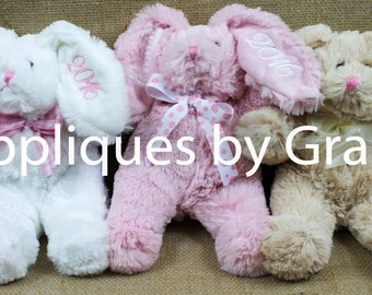 Personalized Easter Plush, Easter bunny, personalized easter bunny, easter plush, name, Easter gift, name bunny, baby's 1st Easter