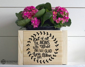 Mother's Day Planter / Mother's Day Gift / Gift for Her / Gift for Mom / Flower Box / Wood Box / Personalized Gift / Planters / Table Decor