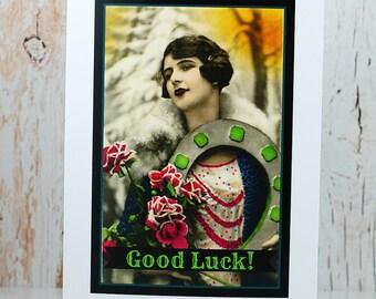 Card #258 - Good Luck Vintage Greeting Card