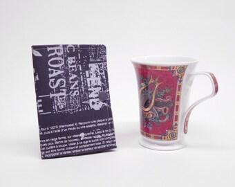 gray tea wallet, travel tea bag holder, tea bag caddy, tea bag organizer, tea bag pouch, tea lover's gift, gift for under 10, co-worker gift