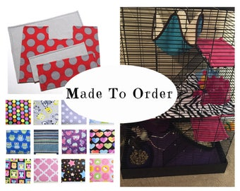 Custom rat manor cage liners | rat cage 4 pc set | custom | rat cage | shelf liners | cage mats | washable pet bedding | MADE TO ORDER